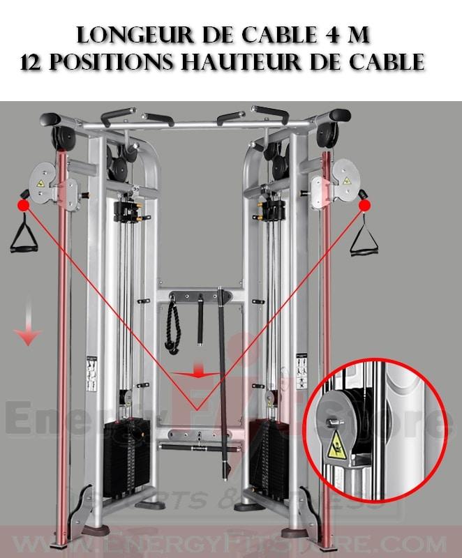 Machine De Musculation Double Poulie Réglable FLY-B22